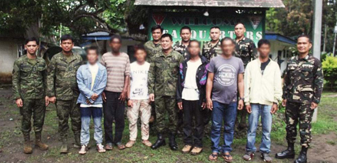 6 Abus surrender, turn-over 6 High Powered Firearms in Sulu