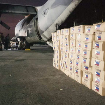 PH deploys relief goods to Indonesia