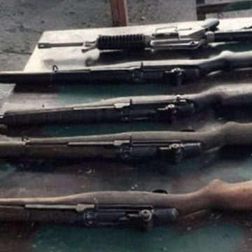 High-powered firearms recovered in Maguindanao