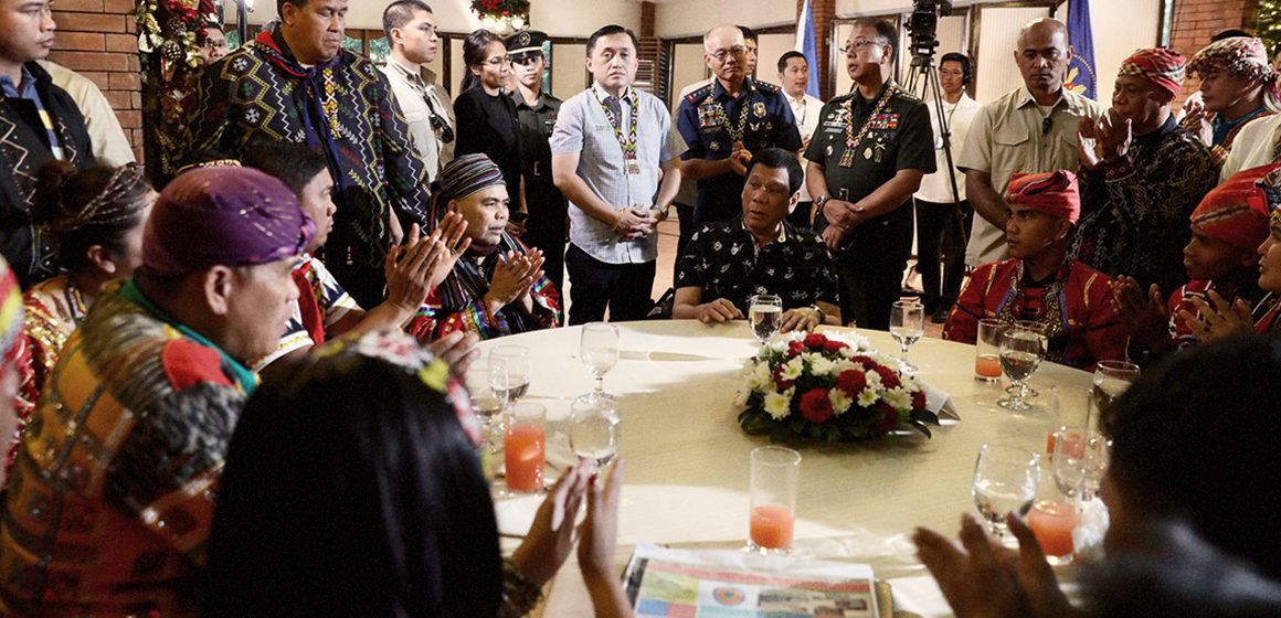 President Duterte receives resolutions from Lumad Groups