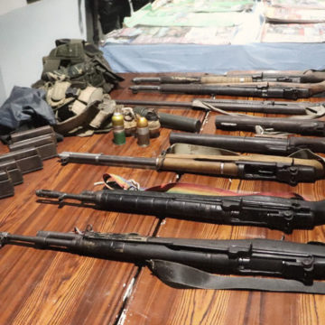 10 NPA surrender to PNP and PA with their firearms