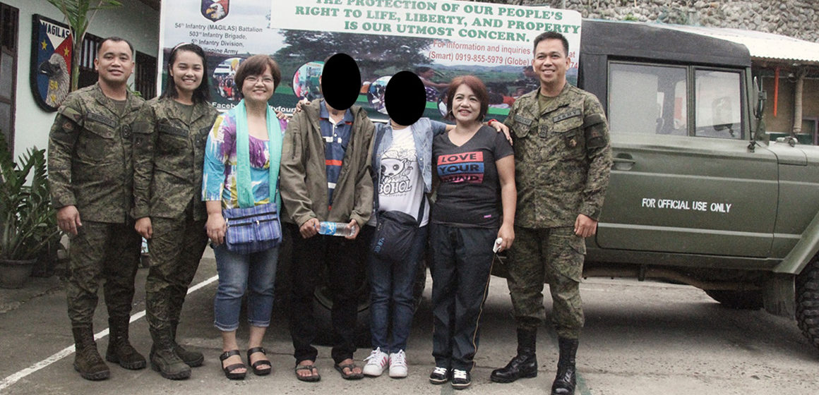 Rescued NPA fighter reunited with his mother in Ifugao