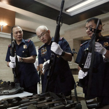 PNP seizes over 1K firearms from 96 security agencies