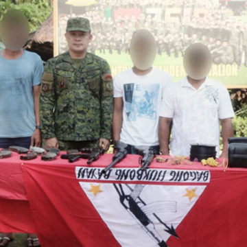 Another 3 New Peoples Army Surrender in Surigao Sur