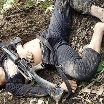 NPA terrorists leaves dead comrade in Iloilo